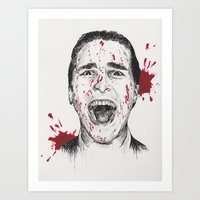 american psycho Art Prints featuring American Psycho by Carrie Anne Hudson