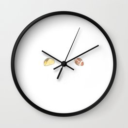Football and Tacos Funny Taco Distressed Wall Clock