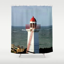 Lady Bay Lower Lighthouse  Shower Curtain