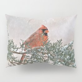 Snowfall Cardinal Pillow Sham