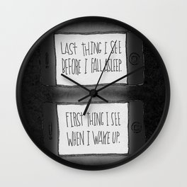 EYESIGHT FAILING Wall Clock