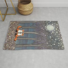 dreamy foxes Rug