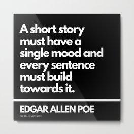 49  Edgar Allen Poe Quotes   201012  Existentialism Nihilism Existentialist Philosophy Writer Raven Metal Print
