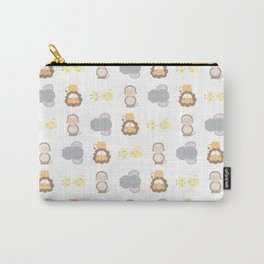 Jungle Animals - White Carry-All Pouch