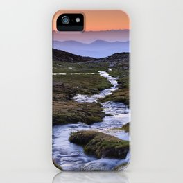 Curved river.. Sierra Nevada National park. At sunset iPhone Case