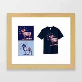 RAM TEE YELLOW Framed Art Print