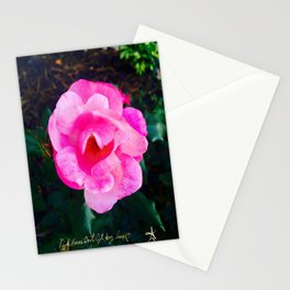 Pink Roses Don't Get Any Love - Pink Rose Stationery Cards