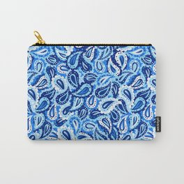 Big blue paisley seamless pattern. Carry-All Pouch