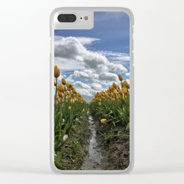 Tiptoe Through the Tulips Clear iPhone Case