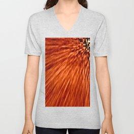 Burnt Orange Pixel Wind Unisex V-Neck