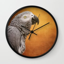 African grey parrot Wall Clock