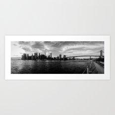 New York Skyline - Black & White Art Print