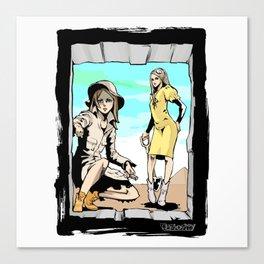 Q-riosity 2 Ladies Canvas Print