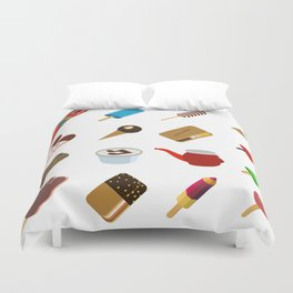 80s Italian ICE CREAM random Duvet Cover