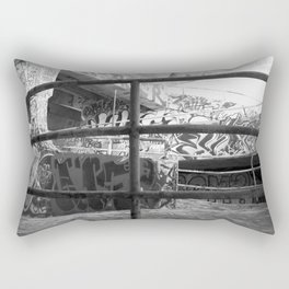 Urban graffiti Miami Abandoned Marina Stadium in Key Biscayne Rectangular Pillow