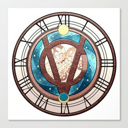 Tick Tock says the Victubia Clock Canvas Print