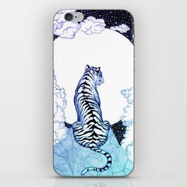 Ombre Tiger Moon iPhone Skin