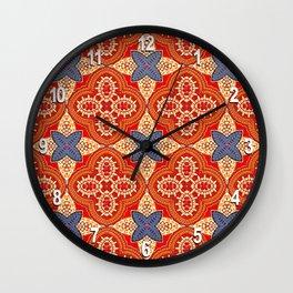 Moroccan Motet Pattern Wall Clock