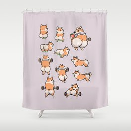 BEST GLUTES FOR CORGIS WORKOUT Shower Curtain