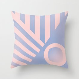 Pattern colors 2016 rose quarz and serenity blue Throw Pillow