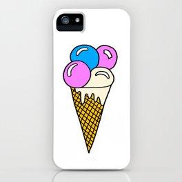 childishly Hand drawn icecream iPhone Case