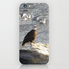Eagle on Ice iPhone Case