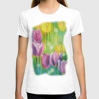 tulips T-shirts featuring Tulips by OLHADARCHUK