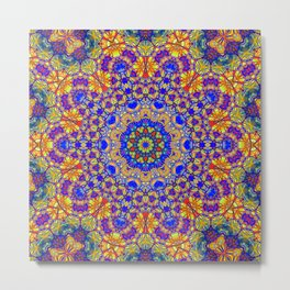 Twelfth Mandala Of Life For A Rosy Spring Metal Print