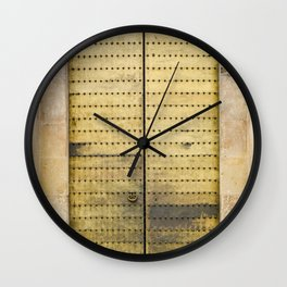 Golden Door Wall Clock
