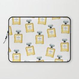 Classic Yellow Parfum Pattern Laptop Sleeve