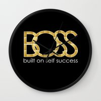 boss Wall Clocks featuring Boss by He Say She Say