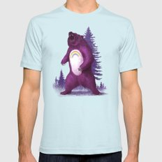 Scare Bear Mens Fitted Tee Light Blue 2X-LARGE