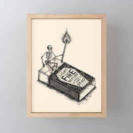 LIGHT YOUR FIRE Framed Mini Art Print