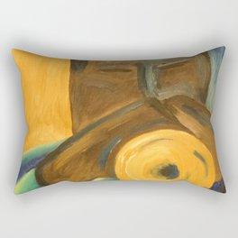The Trumpet Player Rectangular Pillow