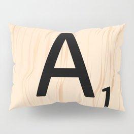 Letter A Scrabble Art Pillow Sham