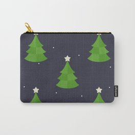 Green Christmas Tree Pattern Carry-All Pouch