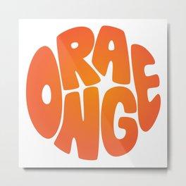 Type'o Orange Metal Print