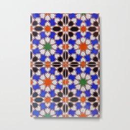 mosaic tile pattern Metal Print