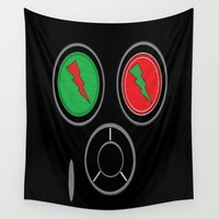rave Wall Tapestries featuring RAVE MASK by shannon's art space