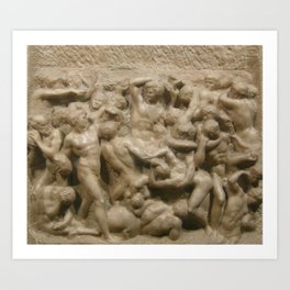"Michelangelo ""Battle of the Centaurs"" Art Print"