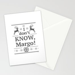 Vacation I Don't KNOW Margo Stationery Cards