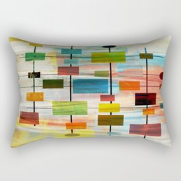 Mid-Century Modern Art 1.3 -  Graffiti Style Rectangular Pillow