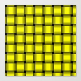 Large Yellow Weave Canvas Print