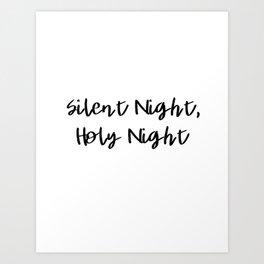 Silent Night, Holy Night Art Print