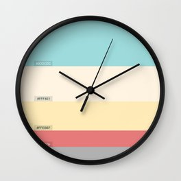 Palette color Cotton candy Wall Clock