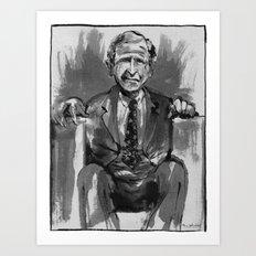 George W. Bush (former US President) Art Print