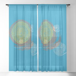 Stitches - Solar flare Sheer Curtain