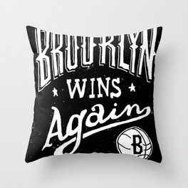Brooklyn Wins Again (Away) Throw Pillow