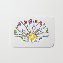 Spring flowers and branches III Bath Mat