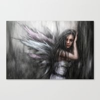 fairy Canvas Prints featuring Fairy by Justin Gedak
